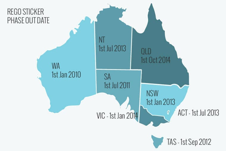 Car Rego Phase Out Dates On Australian Map