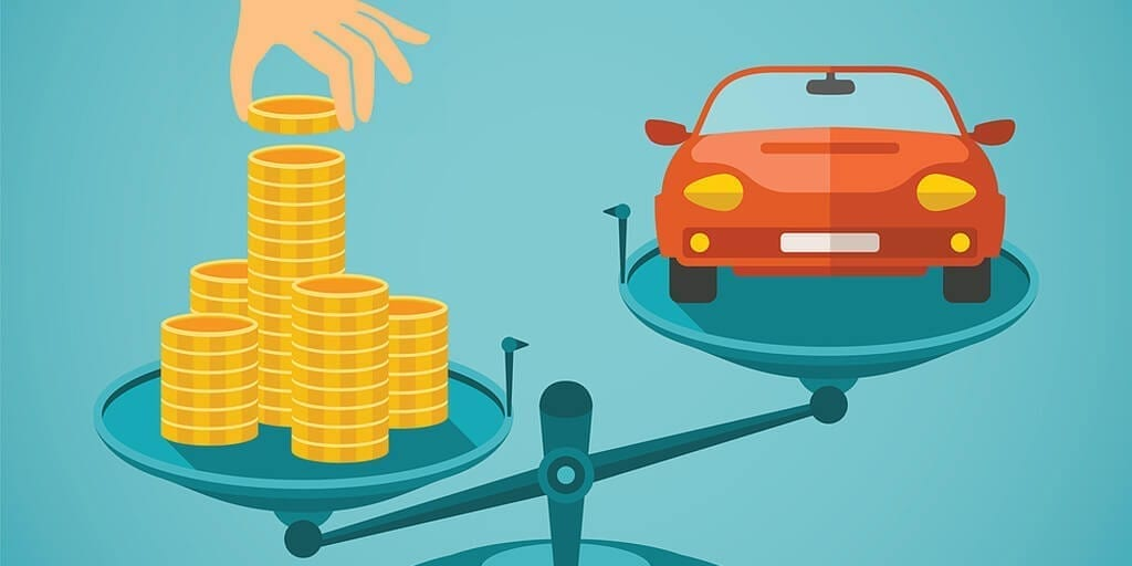 Scales with Cash outweighing a Car